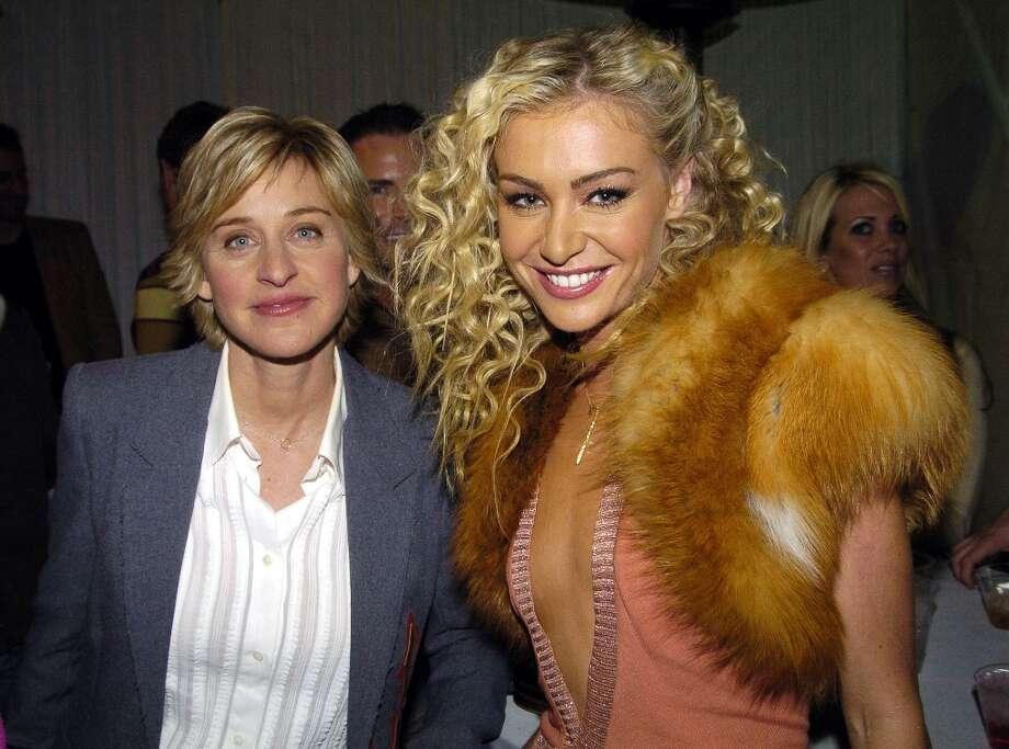 Ellen DeGeneres and Portia de Rossi in 2004. Photo:  Jeff Kravitz, FilmMagic / FilmMagic, Inc