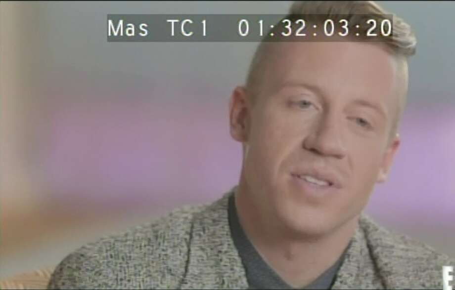 Confessional Macklemore. Sensitive Macklemore. Photo: E!