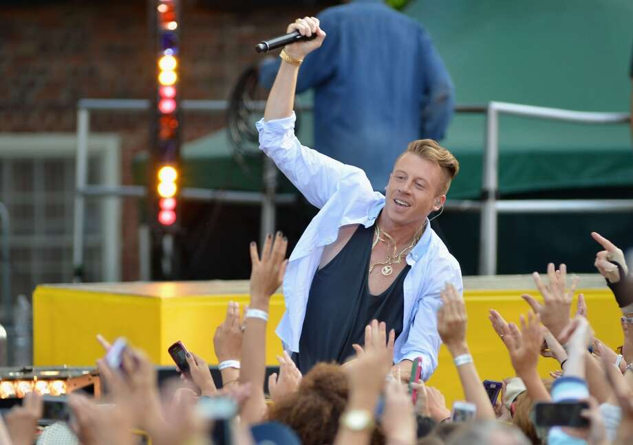"Macklemore performs on ABC's ""Good Morning America"" at Rumsey Playfield on August 16, 2013 in New York City.  (Photo by Slaven Vlasic/WireImage) Photo: Slaven Vlasic, WireImage"