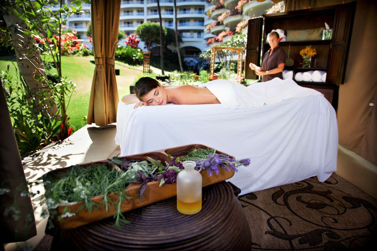 Willow Stream Spa, Fairmont Kea Lani:  The herb garden at Fairmont Kea Lani provides fresh ingredients, including traditional remedies, for body treatments in the adjacent garden cabana and other open-air spa sites on the resort, whose new Willow Stream Spa opens Dec. 23.