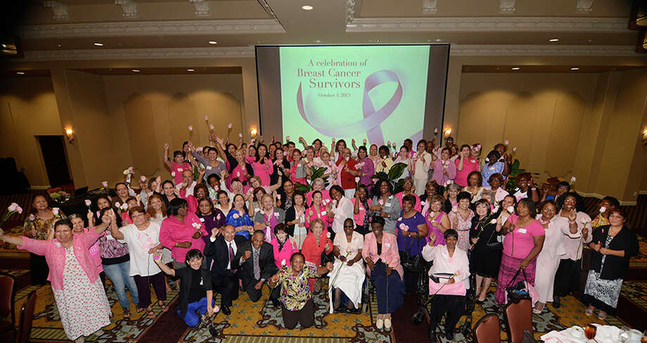 Cancer survivors celebrate at Harris Health's ninth annual Breast Cancer Survivors Luncheon Oct. 4. Photo: Provided By Harris Health System