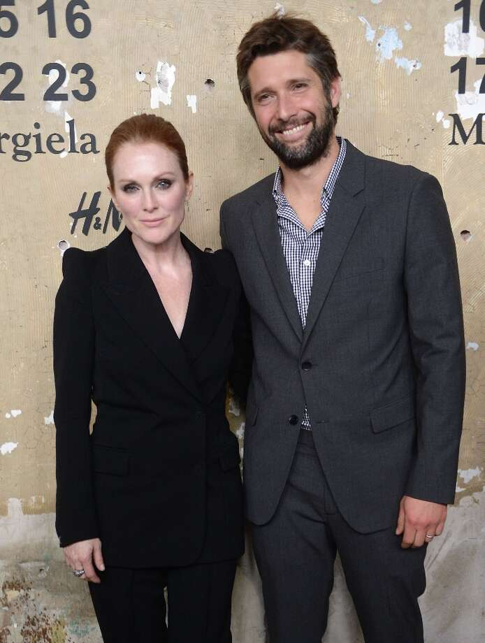 "Julianne Moore and Bart Freundlich began seeing each other while he was directing her in the film ""The Myth of Fingerprints"" in 1996. They had two children together before marrying in 2003. (Photo by Jamie McCarthy/Getty Images for H&M) Photo: Jamie McCarthy, Getty Images For H&M / 2012 Getty Images"