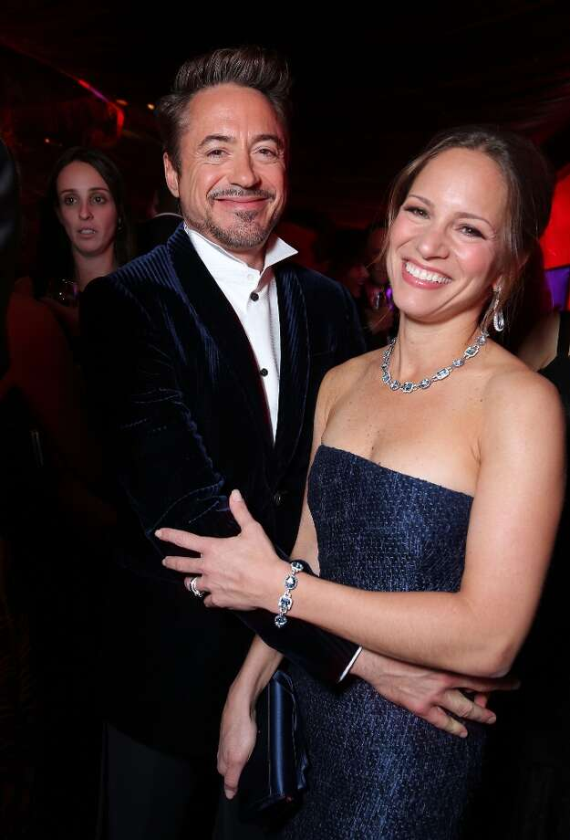 "Robert Downey Jr. and film producer Susan Downey met in 2003 during the film of ""Gothika."" The couple married in 2005 and have two children. Robert credits his wife with helping him kick his drug addiction. Photo: Eric Charbonneau, WireImage / 2013 Eric Charbonneau"