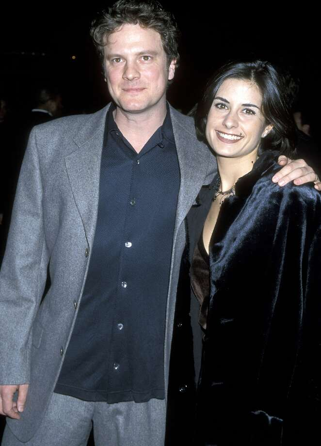 "Colin Firth and Livia Giuggioli at the premiere of ""Shakespeare in Love"" in 1998. Photo: Ron Galella, WireImage / Ron Galella Collection"