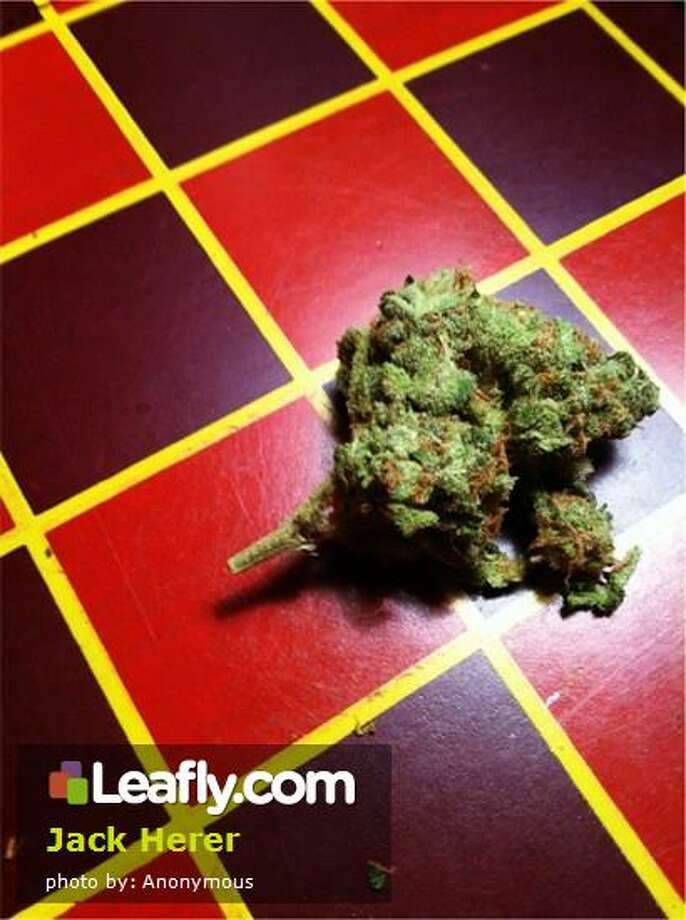 Jack Herer Cannabis Strain:   Here's  how Leafly.com describes the effects of this strain, based on user submissions: Quite possibly the most awarded strain around, Jack Herer is named after the late hemp proponent and activist and author of The Empereror Wears No Clothes, a book helping to decriminalize cannabis. The Jack Herer strain is well known for both its cerebral high as well as its very strong body high.