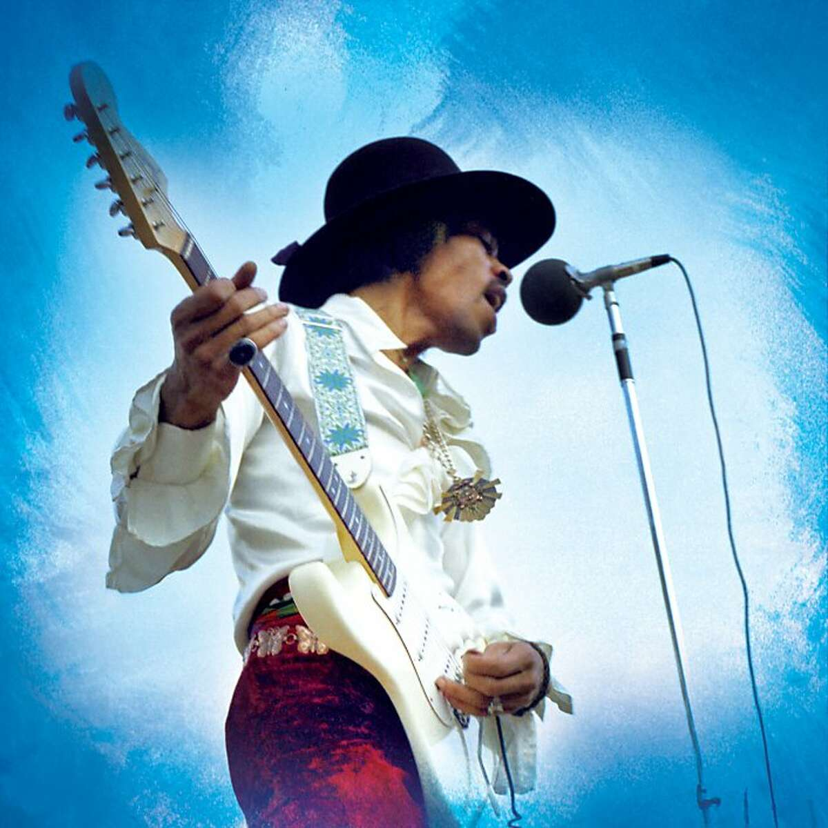 Jimi Hendrix Experience performs at the 1968 Miami Pop Festival. Performance footage from the festival is among the previously unseen treasures featured in American Masters: Jimi Hendrix Ð Hear My Train A Comin?•.