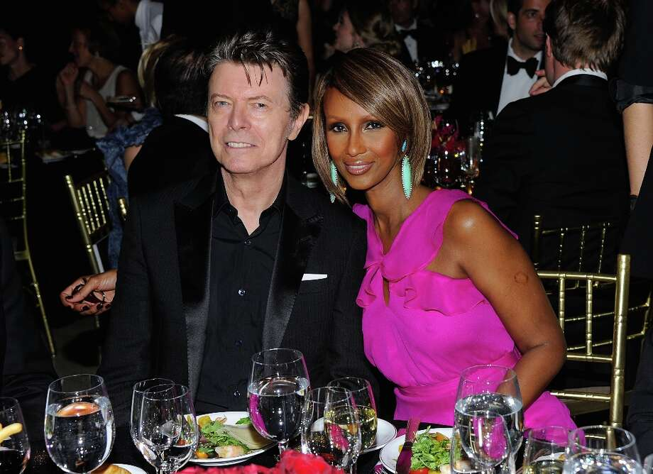 Musician David Bowie married supermodel/cosmetics mogul Iman in 1992. They have a daughter. Photo: Andrew H. Walker, 2011 Getty Images / 2011 Getty Images