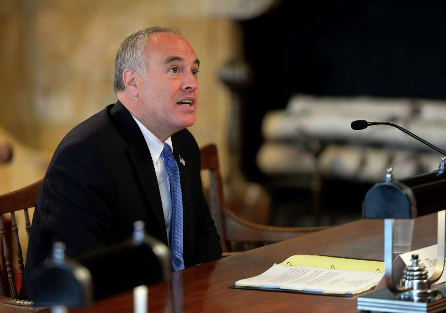 Comptroller Thomas DiNapoli gives testimony during a hearing about the legal representation the poor receive in civil matters Tuesday Sept 17, 2013, in the Court of Appeals Chamber in Albany, N.Y.     (Skip Dickstein/Times Union) Photo: SKIP DICKSTEIN / 00023892A