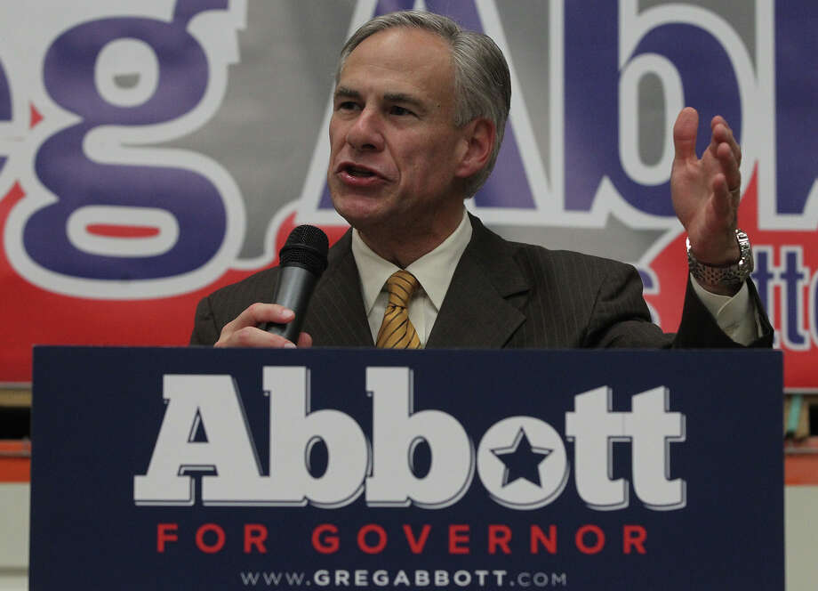 "Attorney General Greg Abbott speaks Oct. 31, 2013, during his visit to Steves & Sons. Abbott, a GOP candidate for Texas governor, spoke to the crowd about several proposals to promote business that are part of his ""Work Texas"" initiative. Steves & Sons is in the door making business. Photo: SAN ANTONIO EXPRESS-NEWS / ©San Antonio Express-News/Photo may be sold to the public"