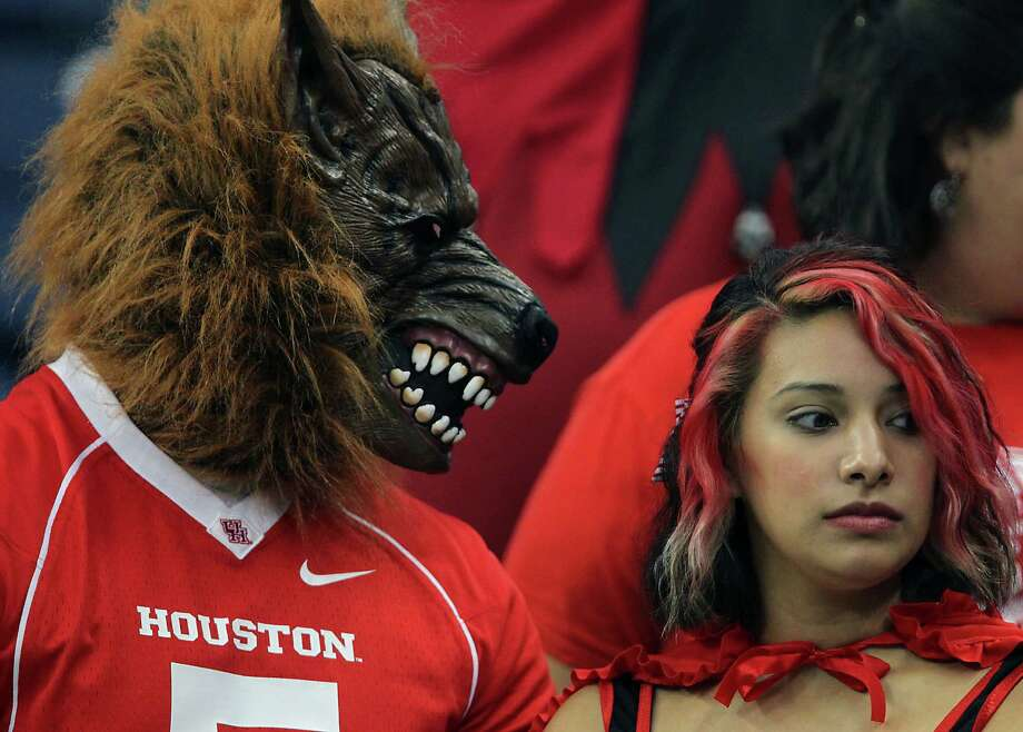 University of Houston fans during the college football game between Houston Cougars and the South Florida Bulls at Reliant Stadium Thursday, Oct. 31, 2013, in Houston. Photo: James Nielsen, Houston Chronicle / © 2013  Houston Chronicle