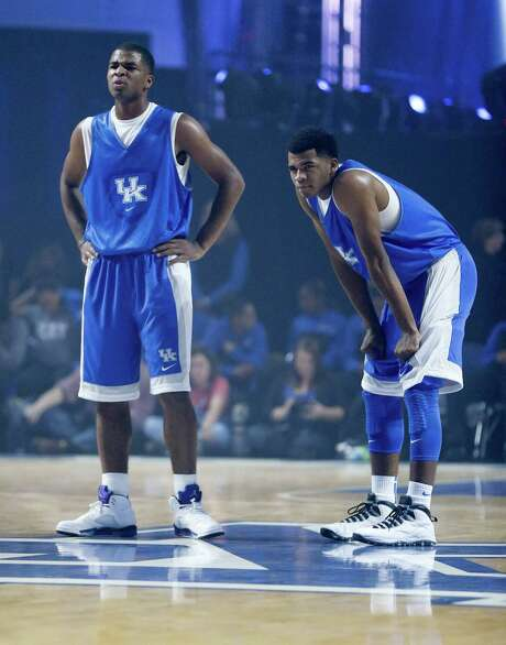 Aaron Harrison, left, and Andrew Harrison, twin freshmen from Fort Bend Travis, are two of the reasons Kentucky is ranked No. 1 in the Associated Press' preseason college basketball poll. Photo: Mark Cornelison, MBR / Lexington Herald-Leader