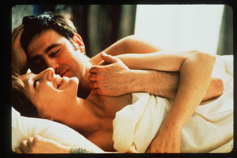 """An Affair of Love"" -- Nathalie Baye and Sergi Lopez meet through an ad in a magazine. Photo: New Line Cinema"