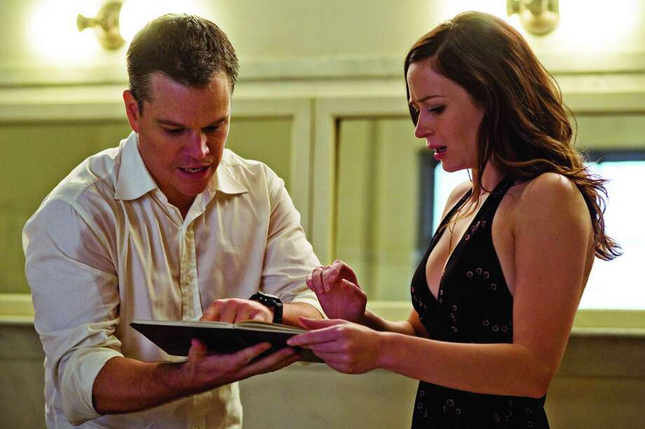 "Matt Damon and Emily Blunt in ""The Adjustment Bureau.""  The love story is what makes the movie work. Photo: Andrew Schwartz, Universal Studios / ONLINE_YES"