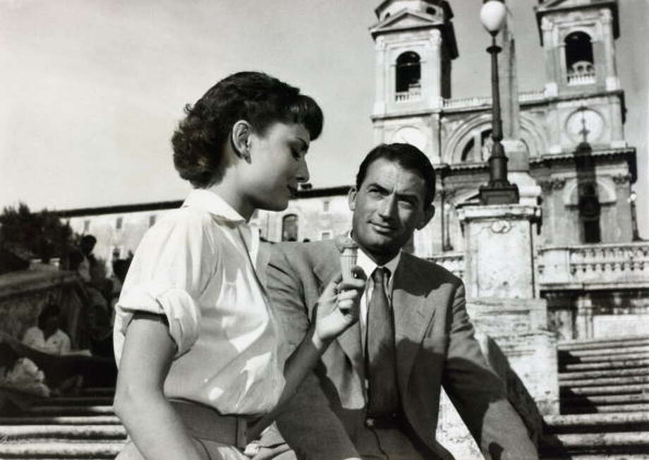 ROMAN HOLIDAY: Actress Audrey Hepburn in her Oscar winning film playing alongside Gregory Peck, Audrey Hepburn, (1929-1993). Photo: Popperfoto, Popperfoto/Getty Images