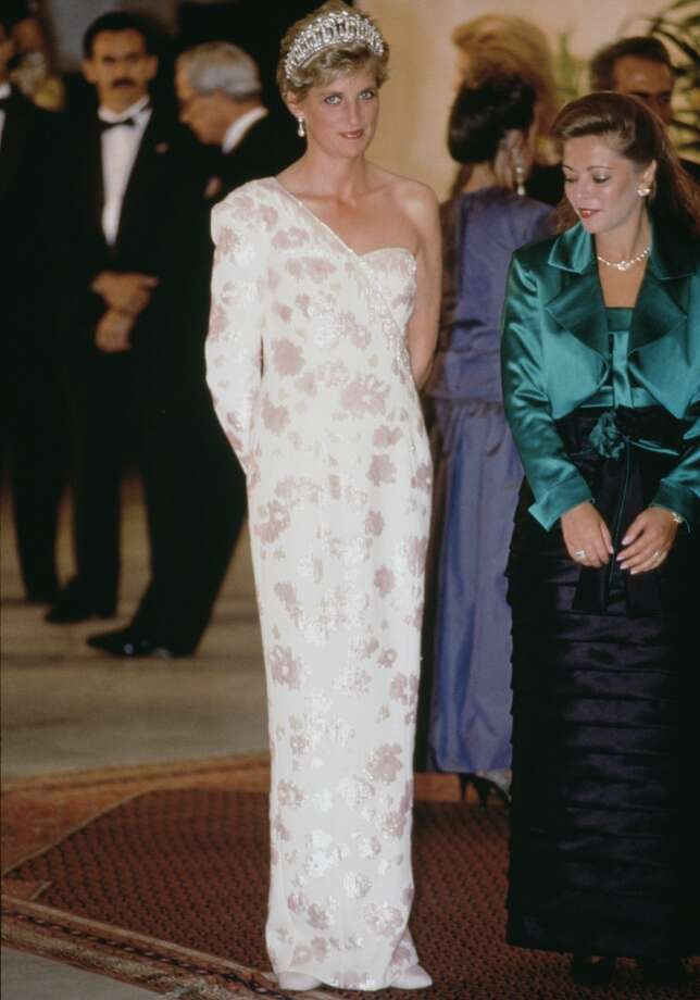 Princess Diana Wearing A Dress Designed By Fashion Designer Catherine Walker During An Official Visit To Brazil Photo: Tim Graham, Tim Graham/Getty Images