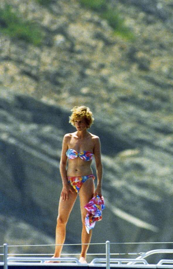 FRANCE - UNDATED:  Princess Diana, Princess of Wales poses in a bikini whilst on holiday in the South of France.  (Photo by Anwar Hussein/WireImage) Photo: Anwar Hussein, WireImage