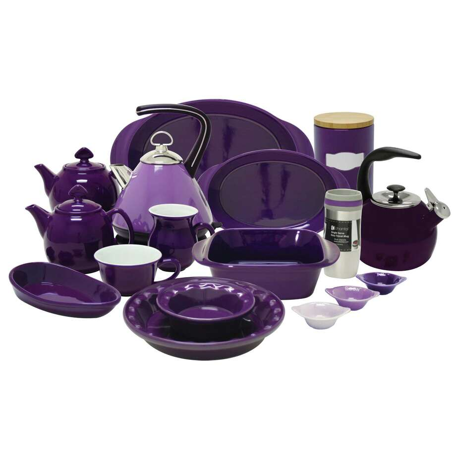 Houston-based Chantal Cookware Corportation's 2013 warehouse marks the debut of the company s new Memory Collection, comprised of purple kitchenware, the official color of Alzheimer s awareness. Five to ten percent of the collection s net sales will be donated to the Alzeimer s Association. / Chantal