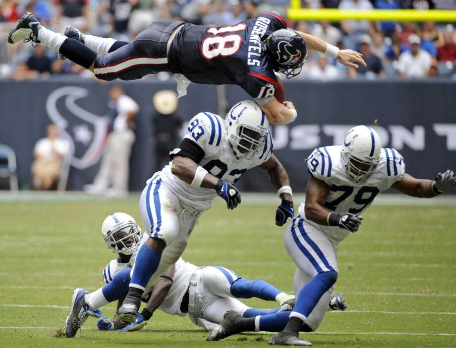 Colts lead series 23-4It's difficult to say the Texans have a rivalry with Indianapolis, as it's largely one-sided toward the Colts. But as divisional foes, the Colts have played a significant part in Texans' franchise history - often as a major roadblock. Relive the best and worst moments between Houston and Indianapolis. Photo: Dave Einsel, Associated Press