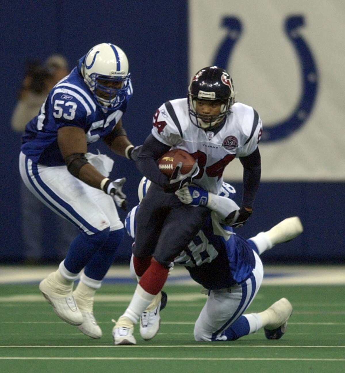 Dec. 1, 2002: Colts 19, Texans 3 In the Texans' first visit to Indy, the Colts once again would not yield a touchdown to Houston. The Texans were held to one field goal that was kicked with less than two minutes to go in the game)