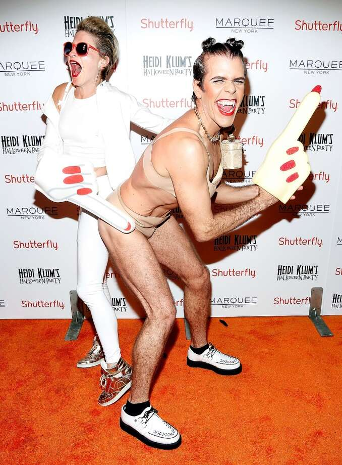 Julie Macklowe, left, and Perez Hilton. Photo: Cindy Ord