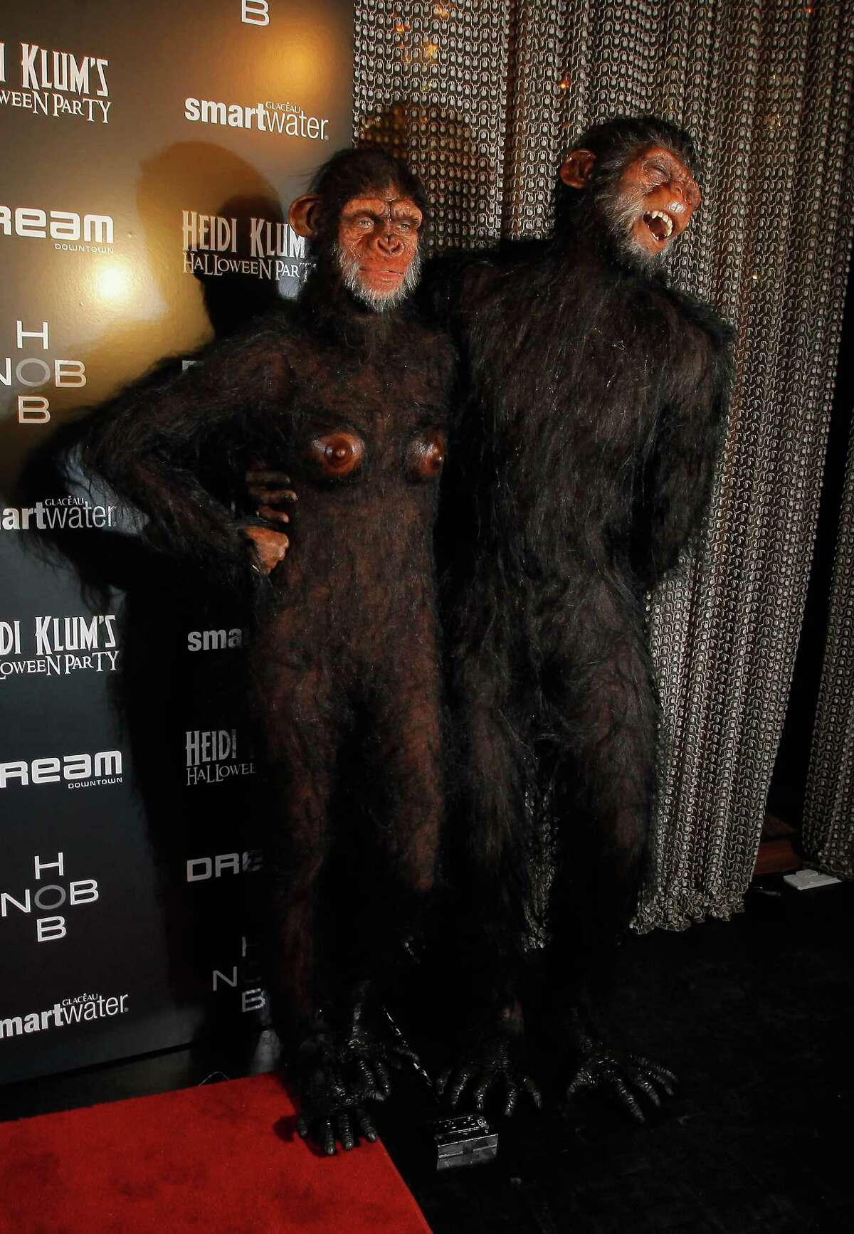 Heidi Klum and Seal attend the model's 12th annual Halloween party at the PH-D Rooftop Lounge at Dream Downtown on October 31, 2011 in New York City.