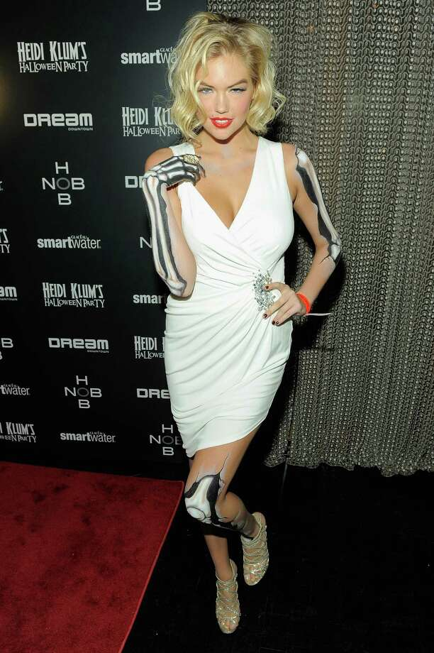 Kate Upton attends Heidi Klum's 12th annual Halloween party at the PH-D Rooftop Lounge at Dream Downtown on October 31, 2011 in New York City. Photo: Jemal Countess, Getty Images / 2011 Getty Images