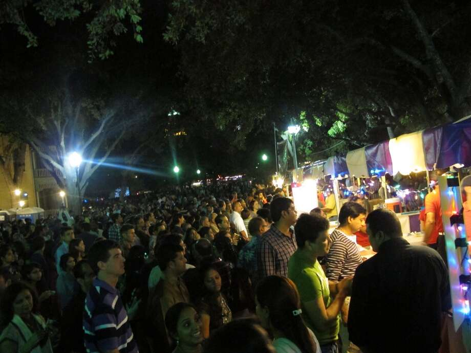 Thousands turn out for Diwali San Antonio Festival of Lights in 2012. Photo: Benjamin Olivo, MySA.com