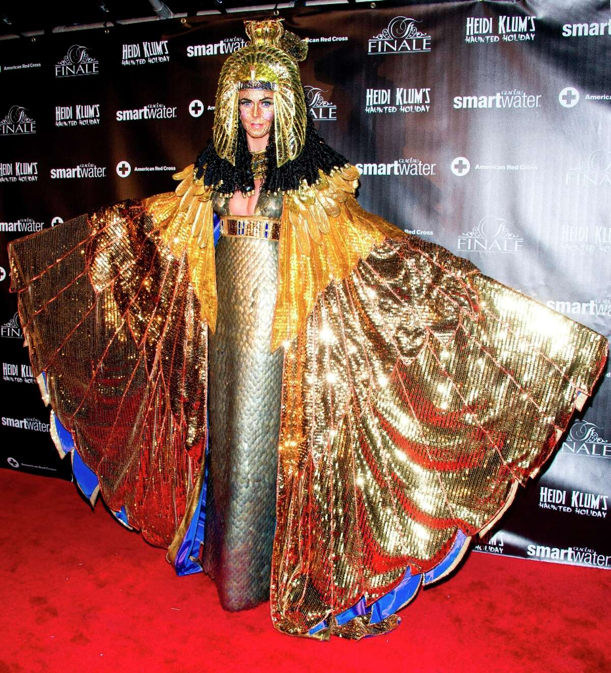 Heidi Klum, dressed as Cleopatra, attends her Haunted Holiday Party benefiting Superstorm Sandy relief efforts, on Saturday, Dec. 1, 2012 in New York.
