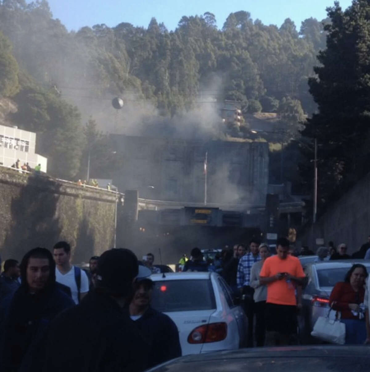 A car fire Friday morning in the Caldecott Tunnel on Highway 24 shut down the only eastbound bore, snarling traffic.