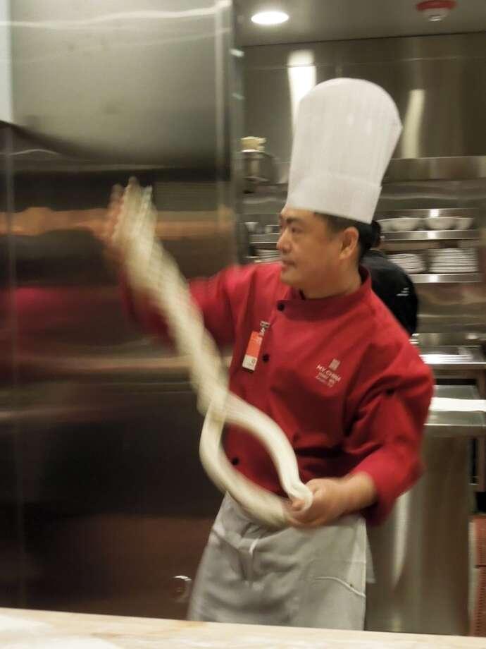 Chef Tony Wu shows off his master noodle spinning talent at the new M.Y. China at the Graton Casino / Photos by SF Chronicle