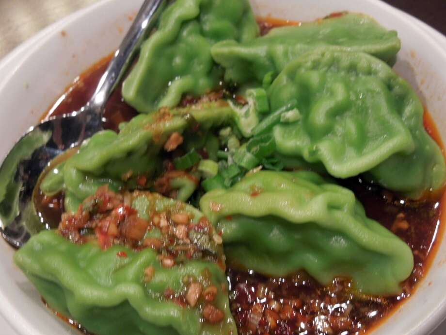 The seafood dumplings.