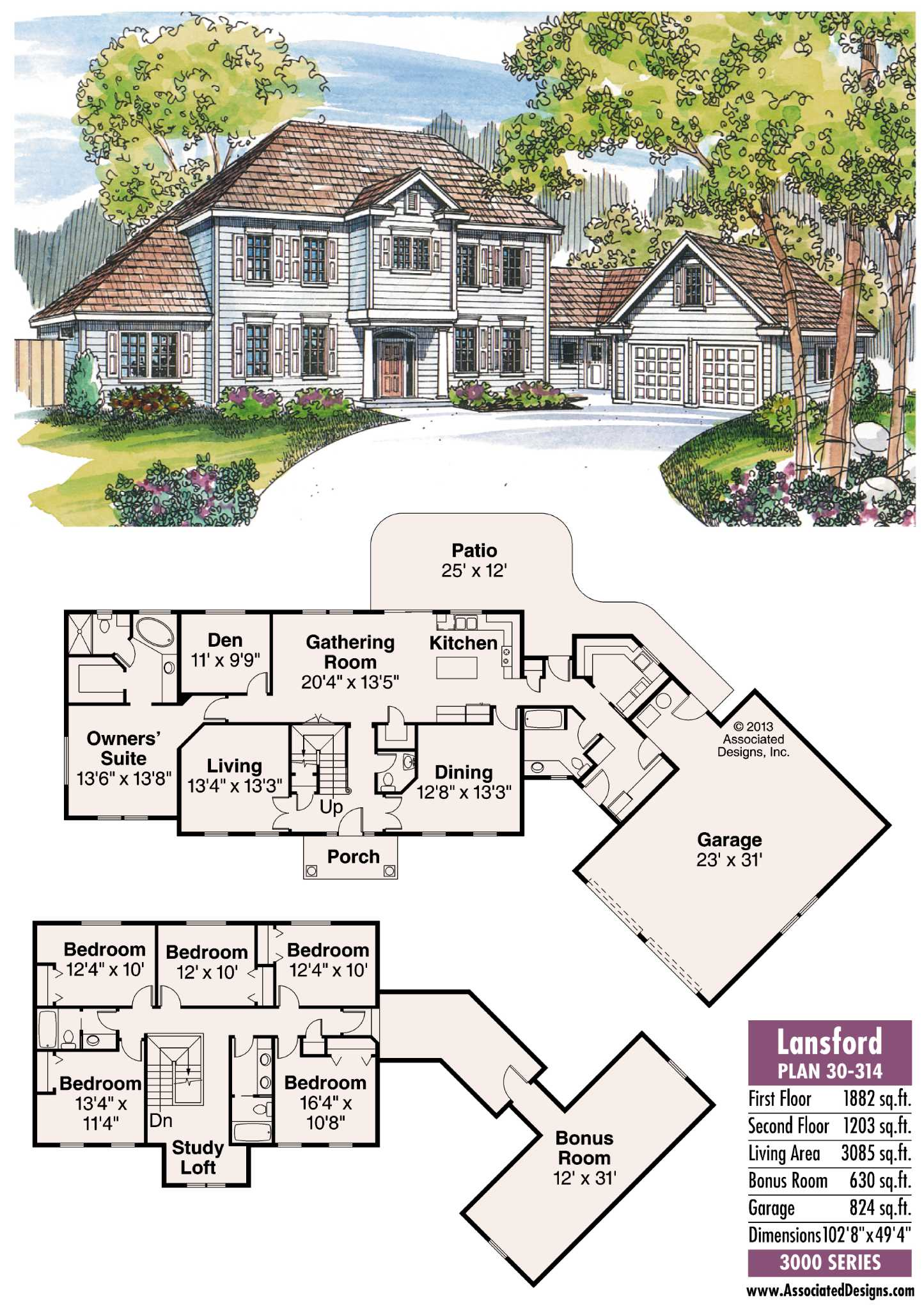 House Plans Lansford Traditional Yet Modern