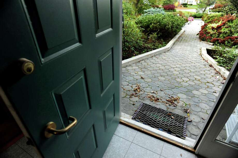 The home of David Hornick and Roberta Miller on Friday, Oct. 18, 2013, n Niskayuna, N.Y. This universally-designed home features a inclined, brick walkway with wood boundaries and no front step, and someone in a wheelchair could access the home.  (Cindy Schultz / Times Union) Photo: Cindy Schultz / 00024300A