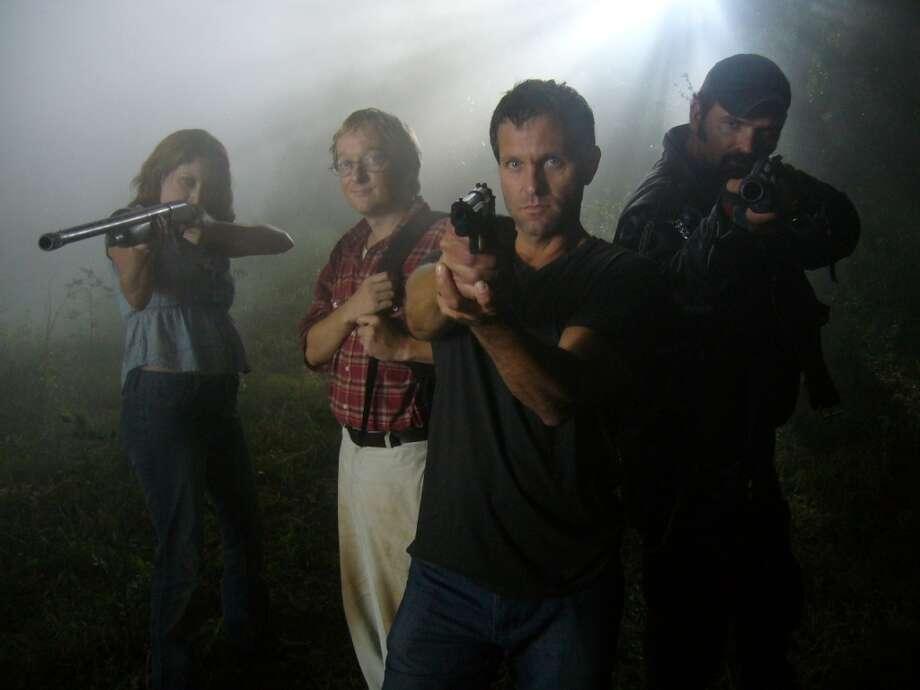 UTSA grad Tom Lagleder was the lead in horror flick, 'The Killing Strain.' Photo: Courtesy
