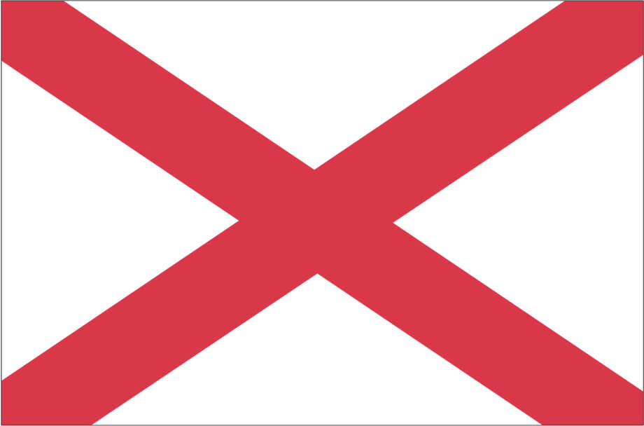 Alabama flag Photo: Globe Turner, LLC, Getty Images/GeoNova Maps / GeoNova Maps