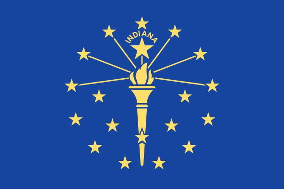 Flag Of Indiana. (Photo By Encyclopaedia Britannica/UIG Via Getty Images) Photo: Encyclopaedia Britannica, UIG Via Getty Images / Universal Images Group Editorial