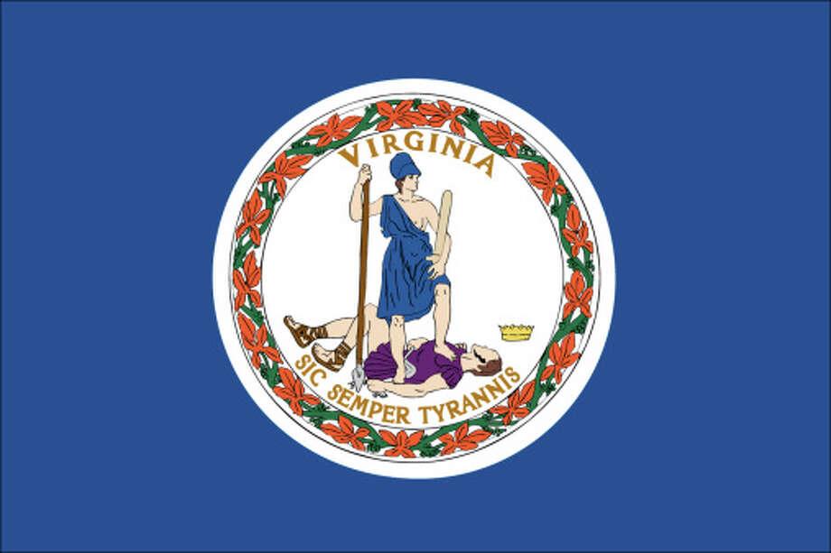 Virginia flag Photo: Antenna Audio, Inc., Getty Images/GeoNova / GeoNova