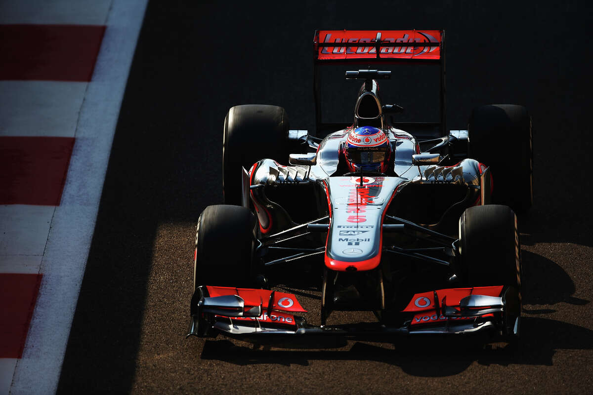 Jenson Button of Great Britain and McLaren drives during practice for the Abu Dhabi Formula One Grand Prix at the Yas Marina Circuit on November 1, 2013 in Abu Dhabi, United Arab Emirates.