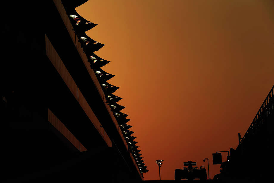 Max Chilton of Great Britain and Marussia exits the pit lane as he drives during practice for the Abu Dhabi Formula One Grand Prix at the Yas Marina Circuit on November 1, 2013 in Abu Dhabi, United Arab Emirates. Photo: Mark Thompson, Getty Images / 2013 Getty Images