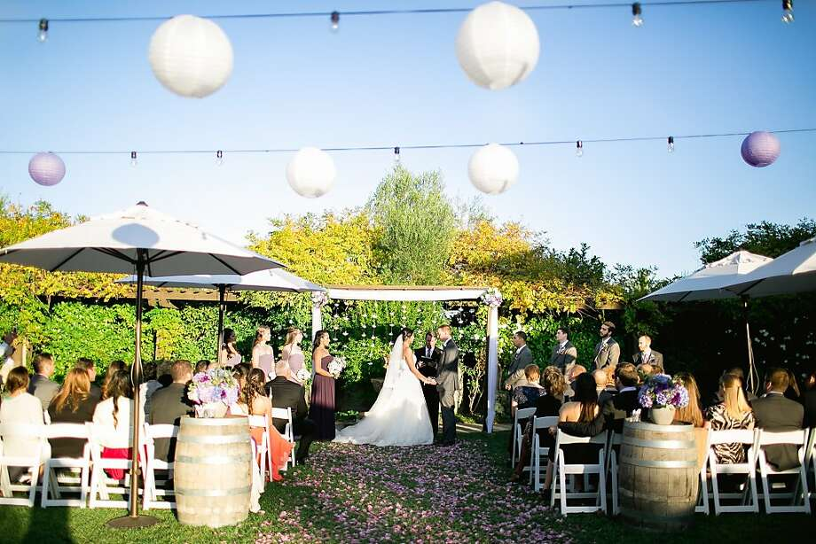 Blogger Brittany Hebb, 30, and tax consultant Matthew Avellar, 31, wed in a small celebration Oct. 12 at the Lodge at Sonoma, followed the next day by wine tasting. Photo: Hannah Suh