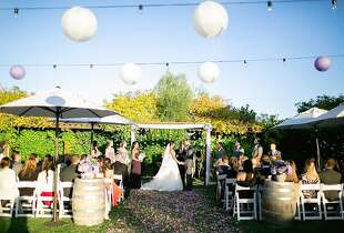 Matthew Avellar, 31, and style blogger Brittany Hebb, 30, tied the knot in a small celebration on Oct. 12 at the Lodge at Sonoma, followed the next day with a wine tasting to show everyone from the East Coast one of their favorite spots in their adopted home.