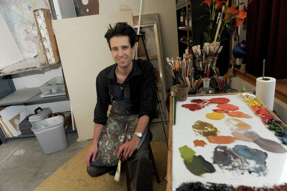 Scott Nelson Foster assistant professor of studio art at Siena College on Thursday Oct. 31, 2013 in Loudonville, N.Y. (Michael P. Farrell/Times Union) Photo: Michael P. Farrell / 00024438A
