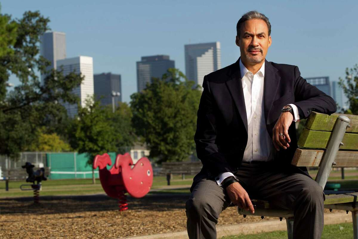 Portrait of Phil Freelon the founder and president of The Freelon Group, Inc.. the architecture firm that is designing the $33 million renovation of Emancipation Park Friday, Oct. 25, 2013, in Houston. Once completed in the fall of 2015, the 10-acre Emancipation Park will have a modern look and feature a new recreation center, picnic area, multi-purpose building, a sculptured gateway entrance and a prominent sculpture. In 1872, a group of four prominent former black slaves purchased the park for $800 to use as home for their Juneteenth celebration. ( Johnny Hanson / Houston Chronicle )