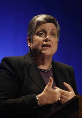University of California president Janet Napolitano speaks to students at Oakland Technical high school on Wednesday, October 30, 2013 in Oakland, Calif.