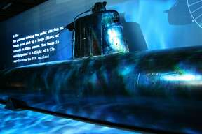 This Ha-19 Japanese Midget submarine ran aground during the attack on Pearl Harbor. It is the only one on display in the U.S. and can be seen at Fredericksburg's National Museum of the Pacific War.