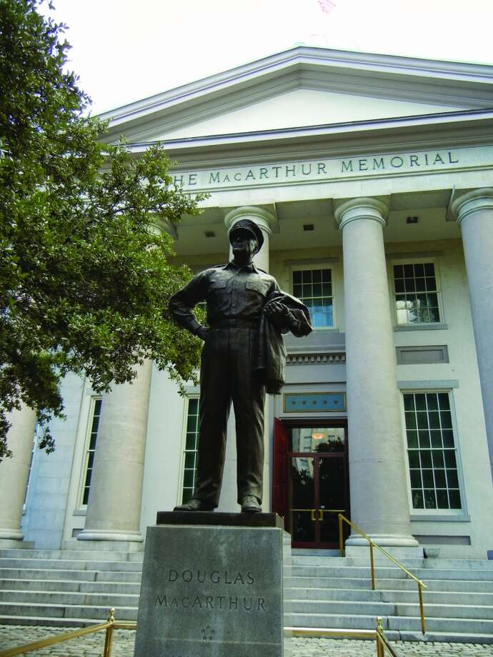 In Norfolk, a statue of General of the Army Douglas MacArthur stands before the MacArthur Memorial, which houses a compact museum well-worth visiting.