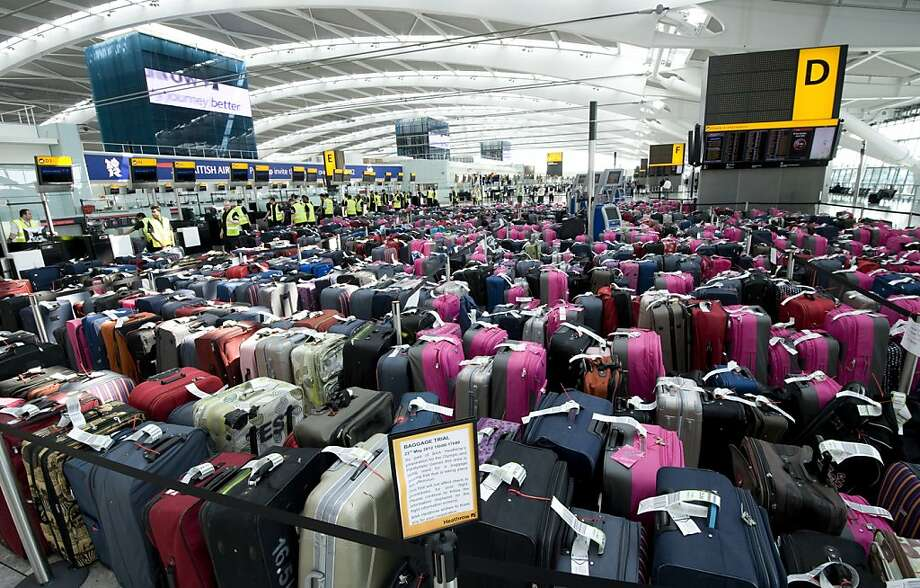 Airlines worldwide are eager to dispense with the bar-coded thermal paper tags they print by the billions to locate luggage. Photo: Associated Press