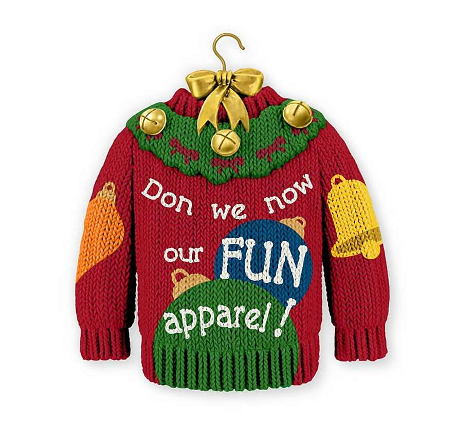 """Hallmark's sweater ornament replaces the word """"gay"""" with """"fun"""" in the classic holiday song. Photo: Associated Press"""