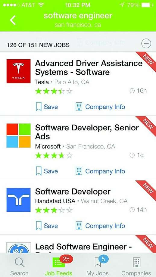Glassdoor app screenshot Photo: CNET