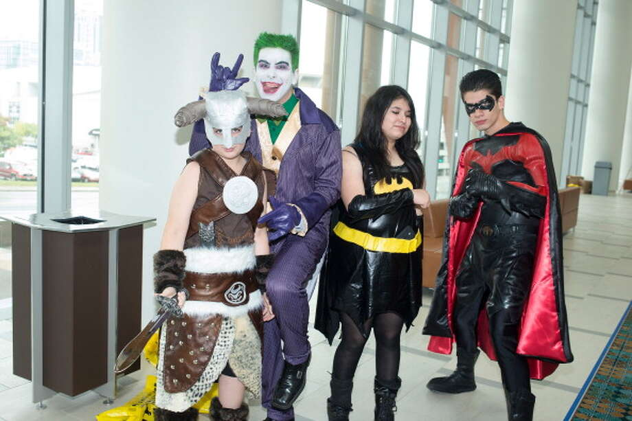 NASHVILLE, TN - OCTOBER 19: Elvis Hurtado as Dragon Boy, Miguel Hurado as Joker, Princely Chavez as Bat Girl, and Jorge Hurado as 1997 Robin  attends Nashville Comic Con 2013 at Music City Center on October 19, 2013 in Nashville, Tennessee. Photo: Beth Gwinn, Getty Images / 2013 Getty Images